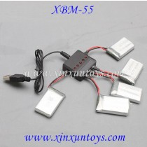 Xiao bai ma XBM-55 WIFI Drone Battery and charger