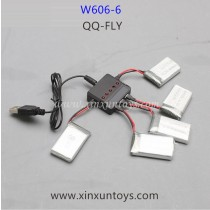 HUAJUN W606-6 QQ-FLY Drone Battery and charger